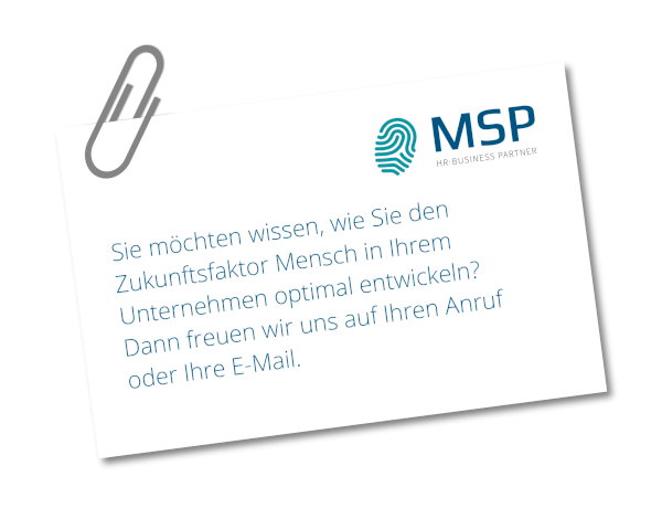 MSP human resources - Visitenkarte